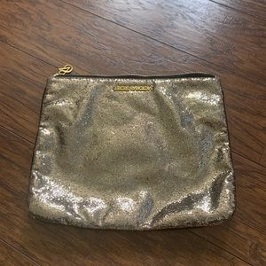 Victoria's Secret glitter gold pochette clutch
